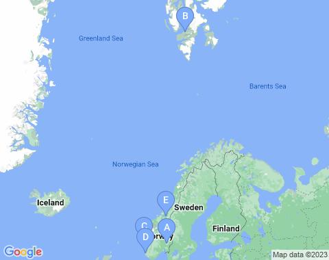 Kaart Noorwegen