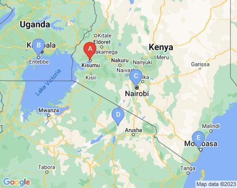 Kaart Kisumu