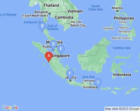 Kaart Padang Sumatra