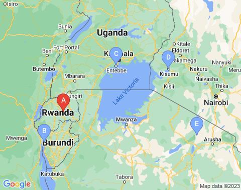 Kaart Kigali