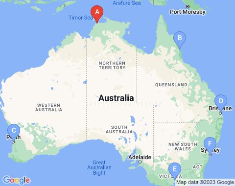 Kaart Darwin