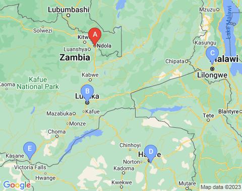 Kaart Ndola