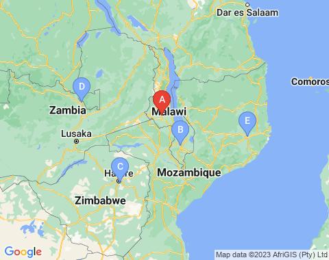 Kaart Lilongwe