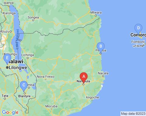 Kaart Nampula