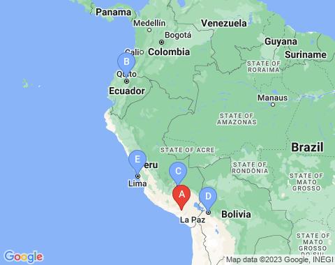 Kaart Arequipa