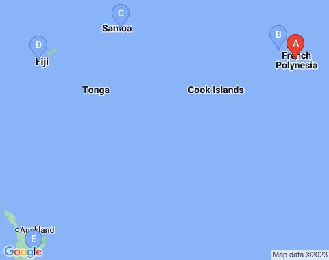 Kaart Papeete