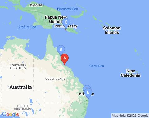 Kaart Townsville