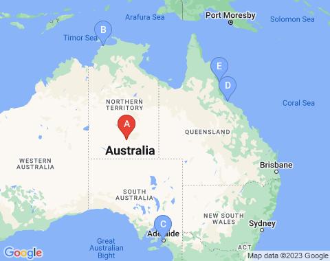 Kaart Alice Springs