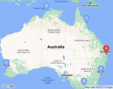 Kaart Brisbane