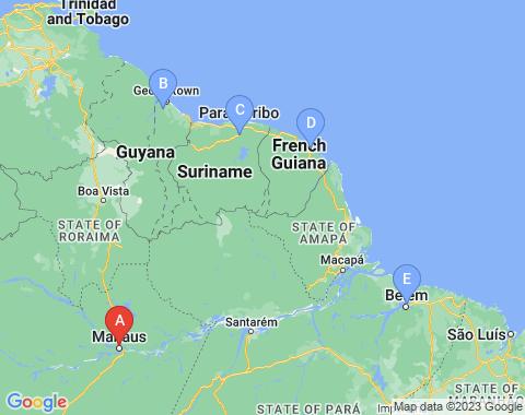 Kaart Manaus