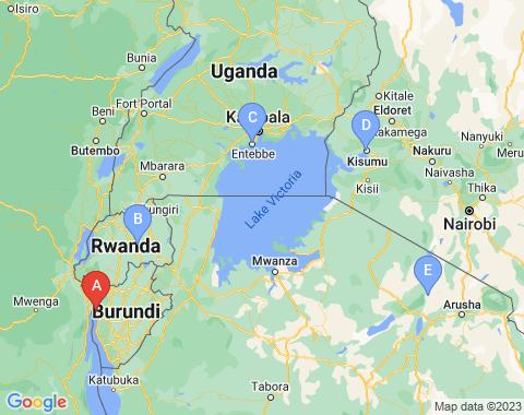 Kaart Bujumbura