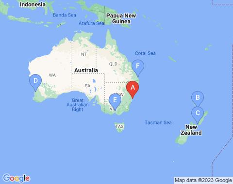 Kaart Sydney