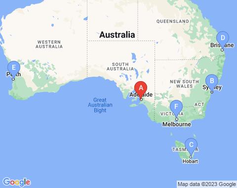 Kaart Adelaide