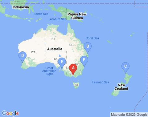 Kaart Melbourne