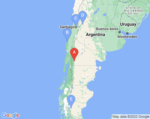 Kaart San Carlos de Bariloche