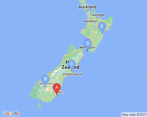 Kaart Dunedin