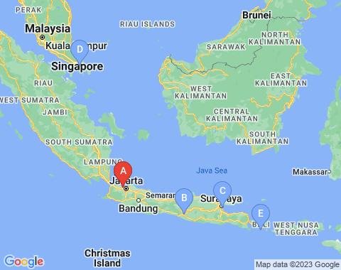 Kaart Jakarta