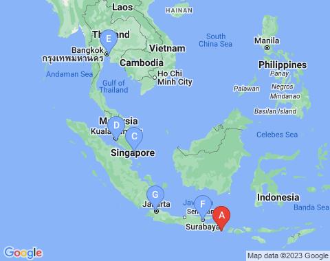 Kaart Denpasar