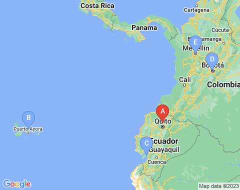 Kaart Quito