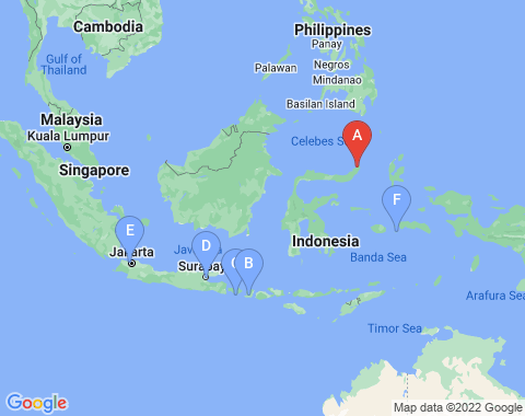 Kaart Manado