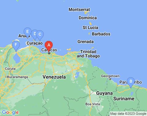 Kaart Caracas