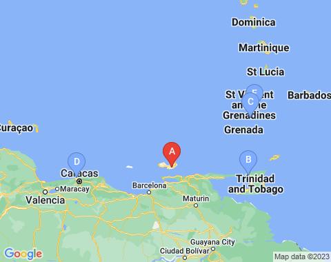 Kaart Isla Margarita