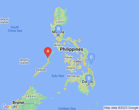 Kaart Palawan Filipijnen