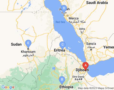 Kaart Djibouti