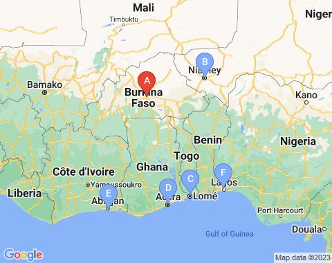 Kaart Ouagadougou