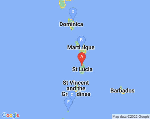 Kaart Saint Lucia