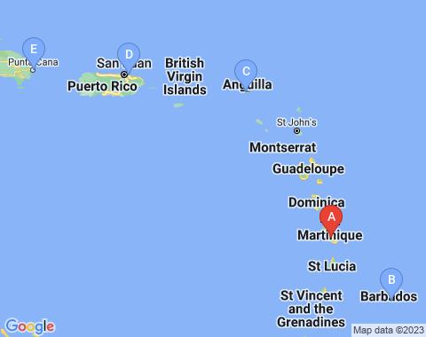 Kaart Martinique
