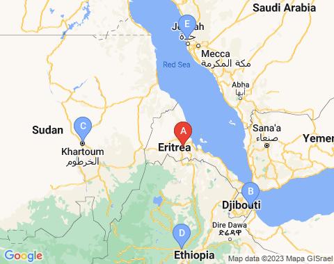 Kaart Asmara