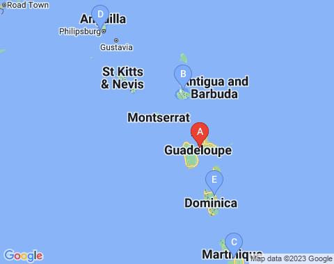 Kaart Pointe-a-Pitre