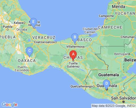 Kaart Tuxtla Gutierrez