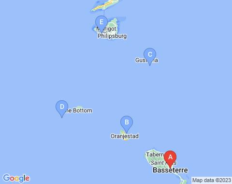 Kaart St Kitts