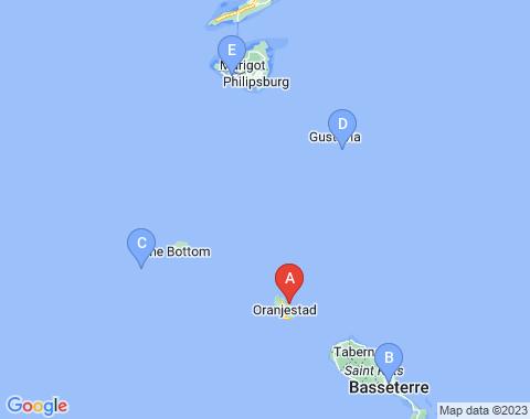 Kaart Sint Eustatius