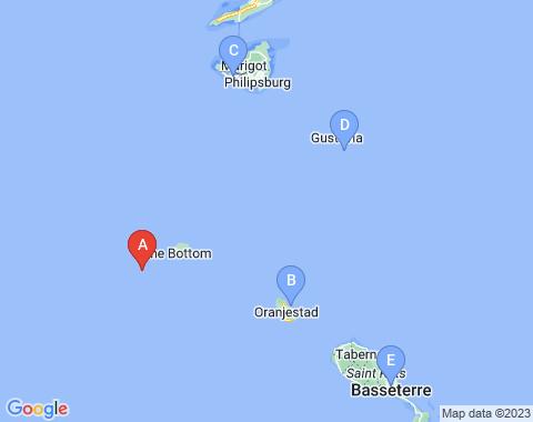 Kaart Saba
