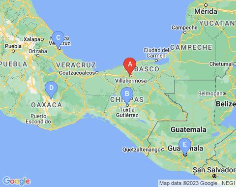 Kaart Villahermosa Mexico