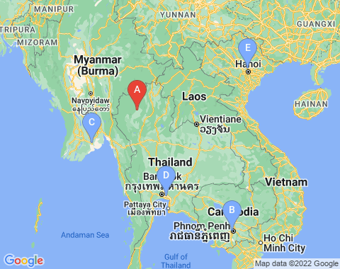 Kaart Chiang Mai