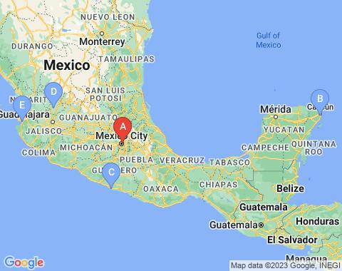 Kaart Mexico City