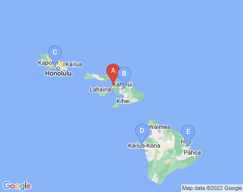 Kaart Kapalua Hawaii
