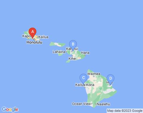 Kaart Honolulu