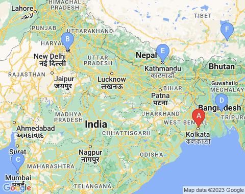 Kaart Calcutta