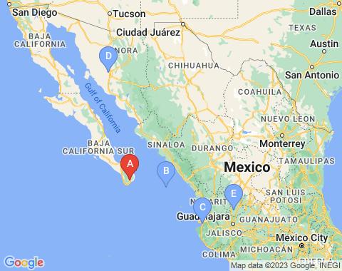 Kaart San Jose del Cabo