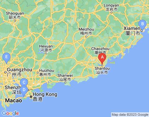 Kaart Shantou