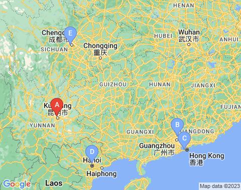 Kaart Kunming