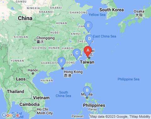 Kaart Taipei