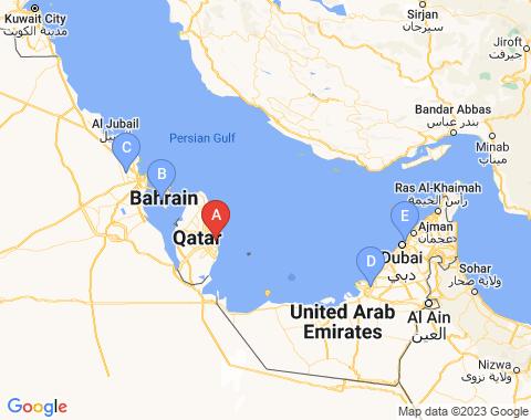 Kaart Doha