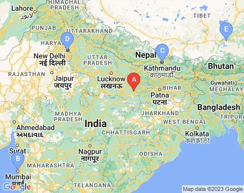 Kaart Varanasi