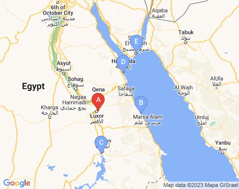 Kaart Luxor